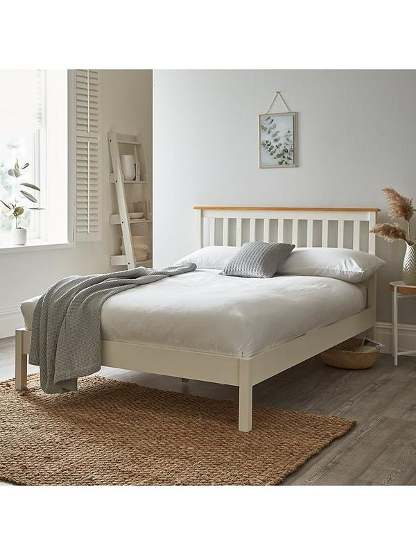 Dawson Low Foot End Bed Frame With Mattress Options Buy And Save White Oak Effect Very Co Uk