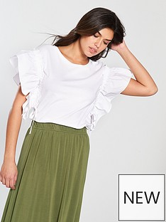 v-by-very-ruched-drawstring-sleeve-top