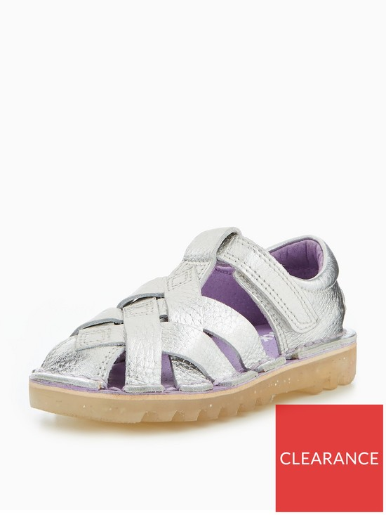 Kickers Infant Weave SilverVery co Kick Sandal uk Girls H9IYeWE2D