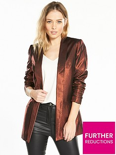 v-by-very-metallic-jacket-bronze