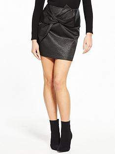 v-by-very-metallic-bow-mini-skirt