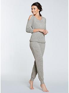 michelle-keegan-cold-shoulder-lounge-set-grey