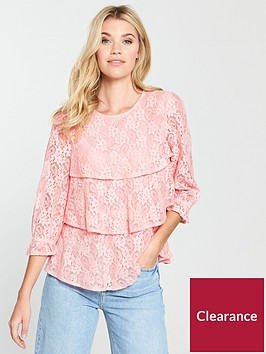 v-by-very-tiered-lace-shell-top-pinknbsp