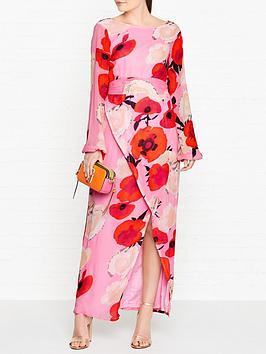 gestuz-violette-rose-print-open-back-maxi-dress-pink