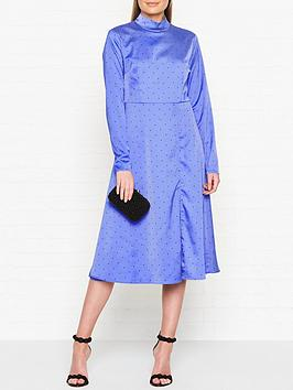 gestuz-ihara-polka-dot-dress-blue