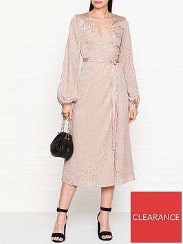 gestuz-cete-jacquard-wrap-dress-pink