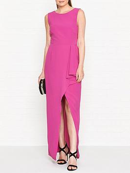 gestuz-mio-frill-maxi-dress-pink