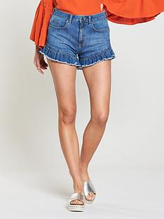 v-by-very-ruffle-hem-denim-short-dark-washnbsp