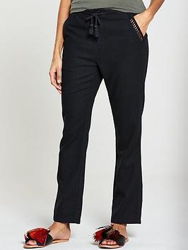 v-by-very-short-linen-mix-trousernbsp--black