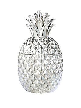 ceramic-metallic-pineapple-pot-ndash-silver