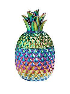 ceramic-metallic-pineapple-pot-ndash-petrol