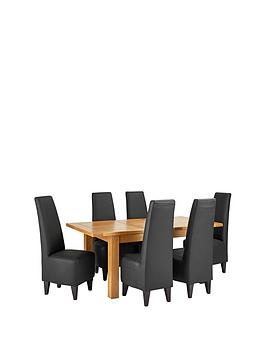 oakland-140-180-cm-solid-wood-extending-dining-table-6-manhattan-chairs