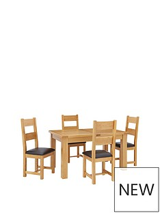 oakland-140--nbsp180-cm-solid-wood-extending-dining-table-4-oakland-chairs