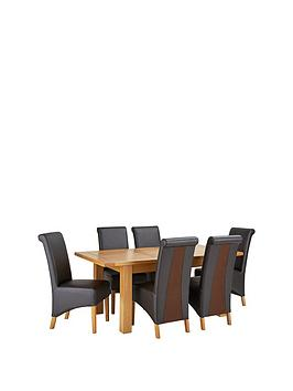 oakland-140-180-cm-solid-wood-extending-dining-table-6-sienna-chairs