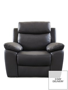 Black Leather Armchairs Chairs Home Garden Www Very Co Uk