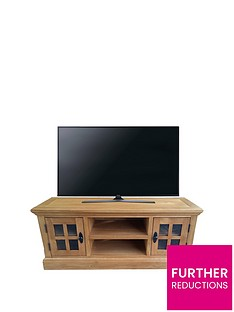 Ideal Home Whitford Solid Wood Ready Assembled TV Unit - fits up to 55 inch TV