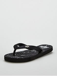hype-black-speckle-flip-flop