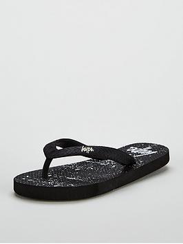 hype-black-speckle-flip-flop
