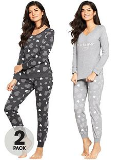 v-by-very-2-pack-heart-print-long-sleeve-pyjamas
