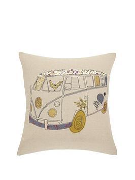 camper-van-embroidered-cushion