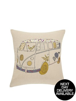 hamilton-mcbride-camper-van-embroidered-cushion