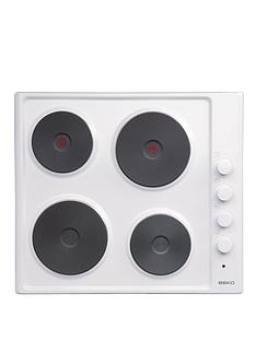 beko-hize64101w-60cm-built-in-solid-plate-electric-hob-white