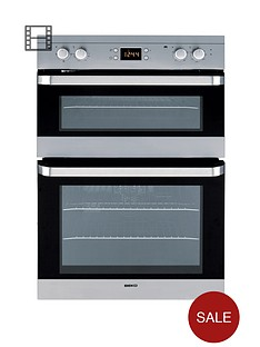 beko-odf22300x-60cm-built-in-electric-fan-double-oven-stainless-steel