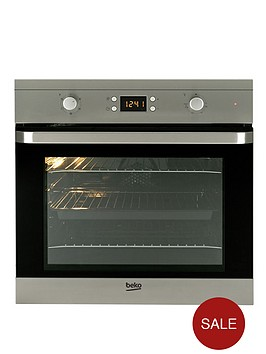 beko-oif22300x-60cm-single-built-in-electric-fan-oven-stainless-steel