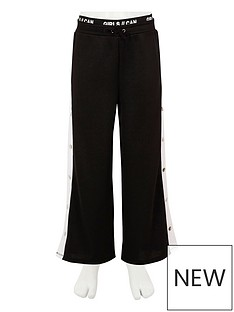 river-island-girls-ri-active-black-popper-side-trousers