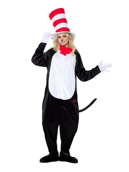 4481b51d Dr Seuss Dr Seuss Cat In The Hat Adults Fancy Dress All-in-One ...