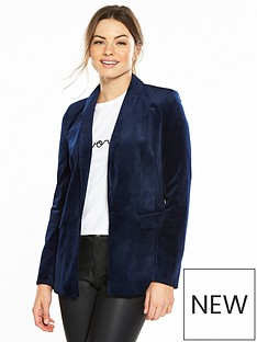miss-selfridge-velvet-blazer-midnight