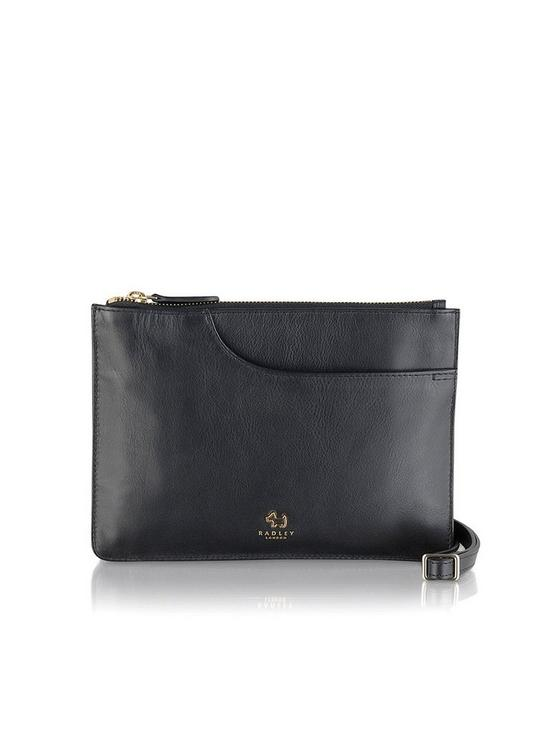ec49448ec53b9 Radley Pockets Medium Multi Compartment Cross Body Bag - Black ...