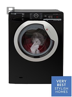 hoover-dynamic-nextnbspdxoa410c3b-10kgnbspload-1400-spin-washing-machine-with-one-touch-blackchromenbsp