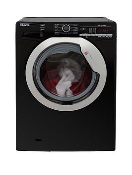 Hoover Dynamic Next Dxoa410C3B 10Kg Load, 1400 Spin Washing Machine With One Touch - Black/Chrome