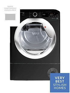 Hoover Dynamic Next DXC10TCEB 10kg Aquavision Condenser Tumble Dryer with One Touch - Black/Chrome