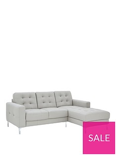 c5d53522bd5 Ideal Home Brook Premium Leather 3 Seater Right Hand Corner Chaise Sofa