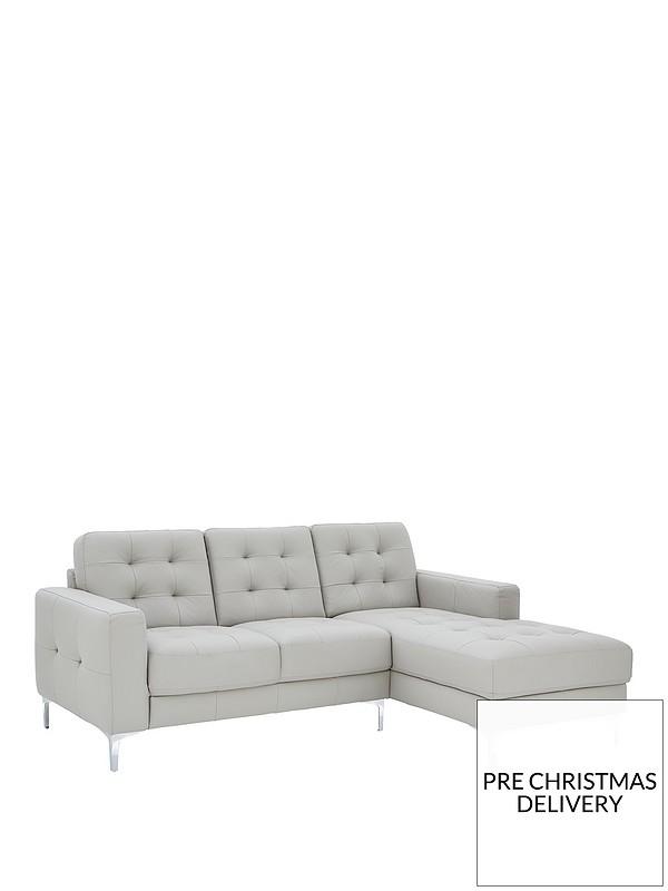 Phenomenal Brook Premium Leather 3 Seater Right Hand Corner Chaise Sofa Machost Co Dining Chair Design Ideas Machostcouk