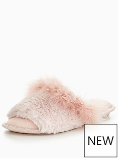 v-by-very-kelly-fluffy-mule-slipper-pink
