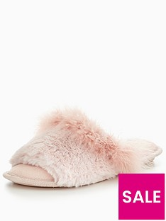 v-by-very-kelly-fluffy-mule-slipper-pink