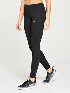 adidas Response Three-Quarter Running Tights Black Sportswear for Women Shop Womens Sportswear COLOUR-black