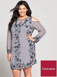v-by-very-curve-embellished-cold-shoulder-dress
