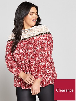 v-by-very-curve-crochet-yoke-eyelet-blouse-red-print