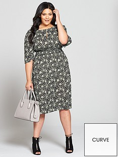 v-by-very-curve-shirrednbspwaist-printed-dress