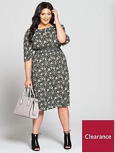 v-by-very-curve-shirrednbspwaist-printed-dress