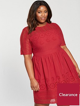 v-by-very-curve-cutwork-midi-dress-burnt-red
