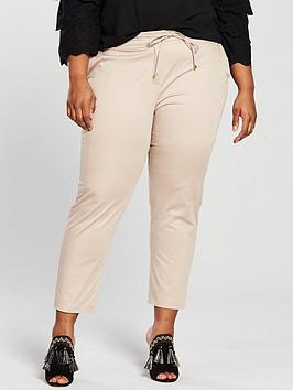 Photo of V by very curve casual chino trouser - stone