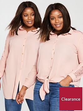 v-by-very-curve-knot-lace-insert-longline-blouse-blush