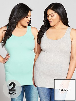 v-by-very-curve-2-pack-longline-vests-grey-marlmint