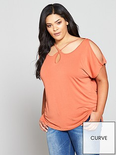 v-by-very-curve-cross-neck-detail-longline-top--nbspterracotta