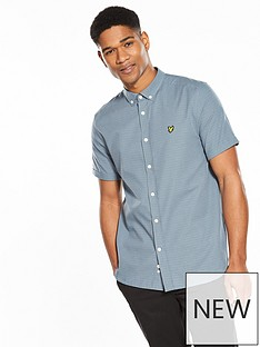 lyle-scott-lyle-amp-scott-short-sleeved-multi-coloured-running-stitch-shirt